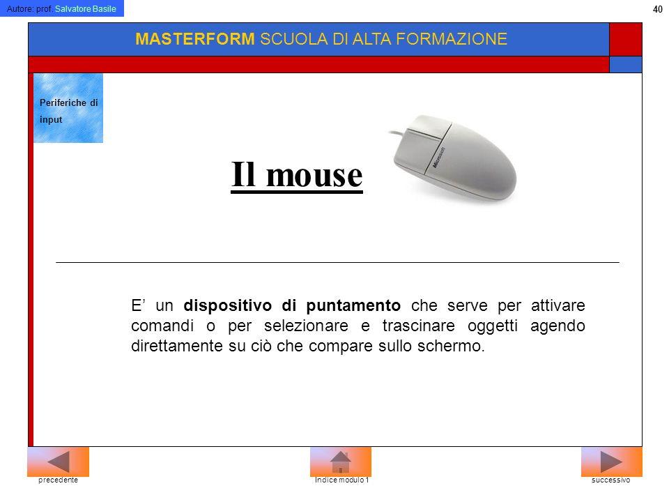 Il mouse MASTERFORM SCUOLA DI ALTA FORMAZIONE