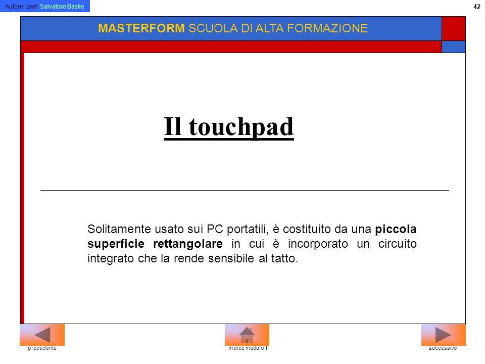 Il touchpad MASTERFORM SCUOLA DI ALTA FORMAZIONE