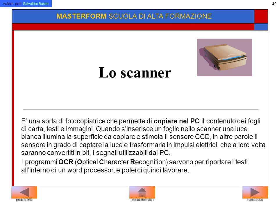Lo scanner MASTERFORM SCUOLA DI ALTA FORMAZIONE