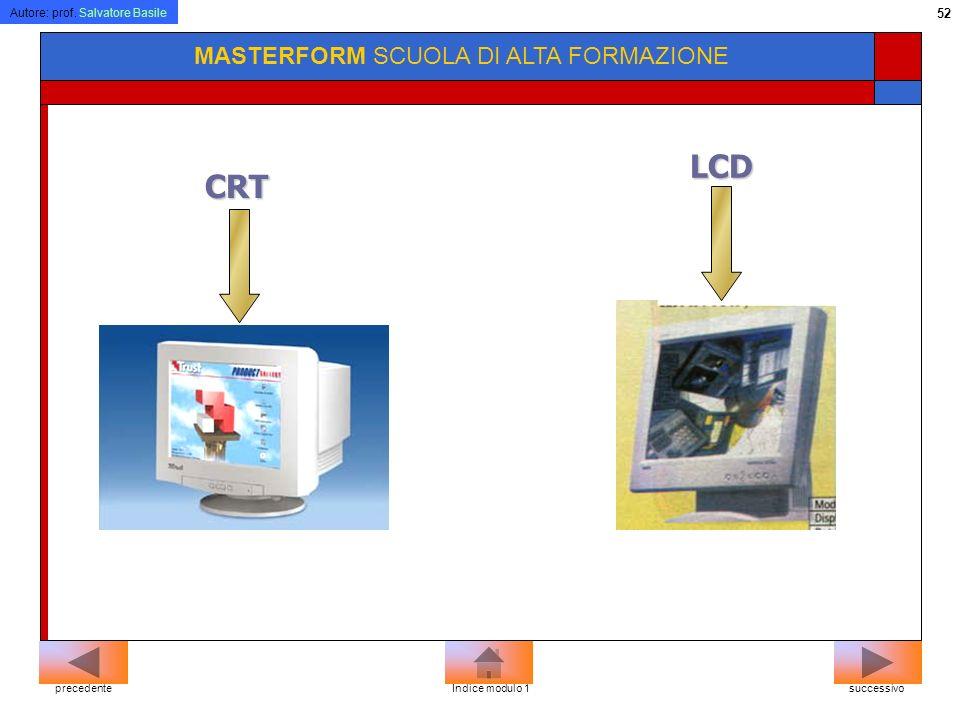 LCD CRT MASTERFORM SCUOLA DI ALTA FORMAZIONE precedente