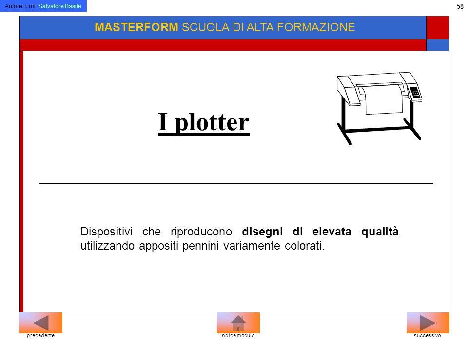 I plotter MASTERFORM SCUOLA DI ALTA FORMAZIONE