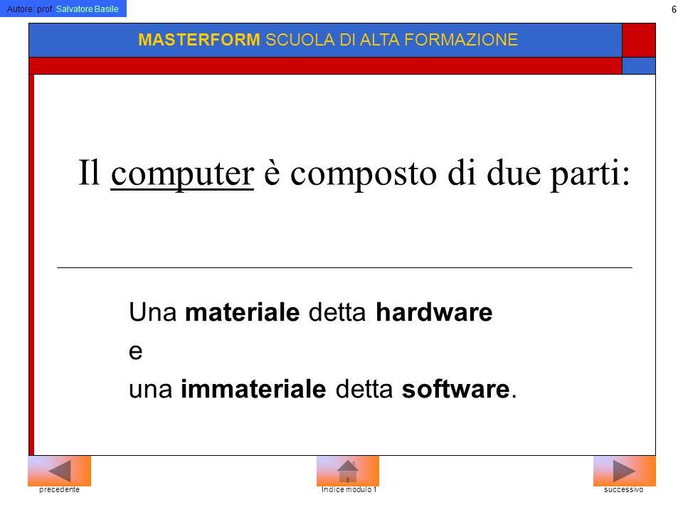Il computer è composto di due parti: