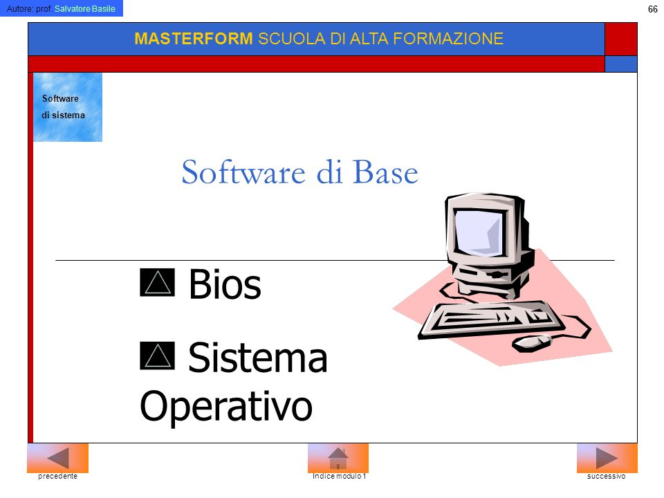 Bios Sistema Operativo Software di Base