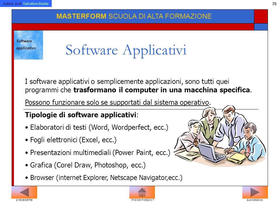 Software Applicativi MASTERFORM SCUOLA DI ALTA FORMAZIONE