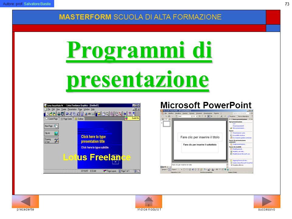 Programmi di presentazione