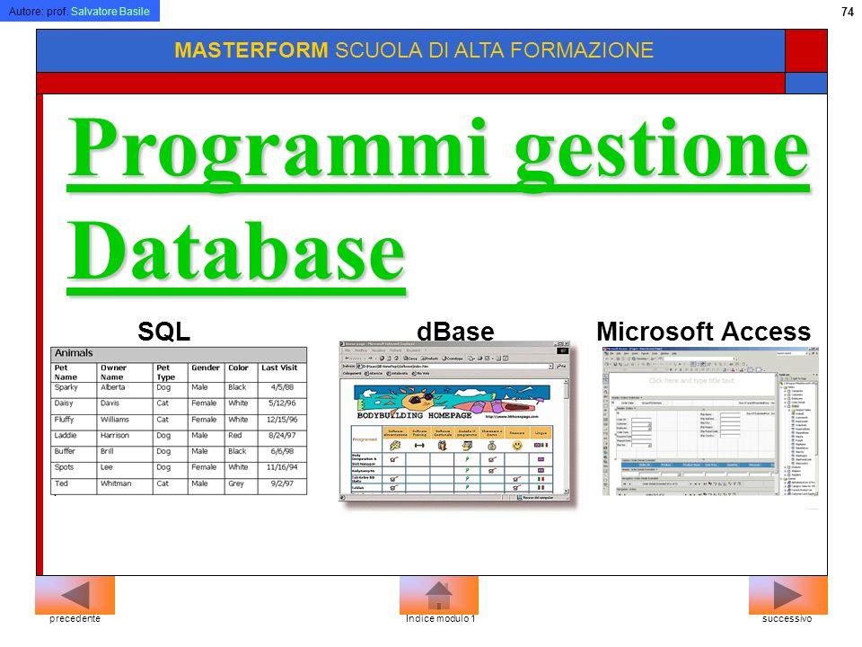 Programmi gestione Database
