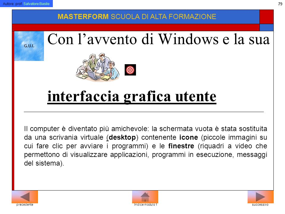 Con l'avvento di Windows e la sua interfaccia grafica utente