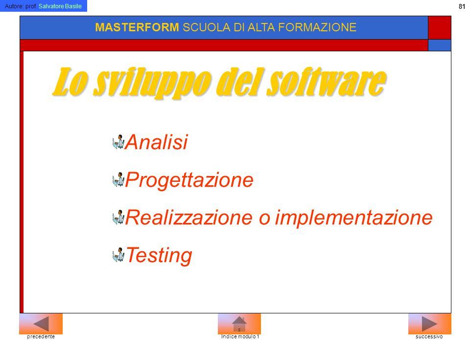 Lo sviluppo del software