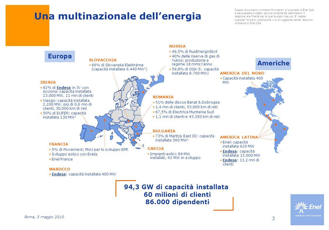 94,3 GW di capacità installata 60 milioni di clienti 86.000 dipendenti