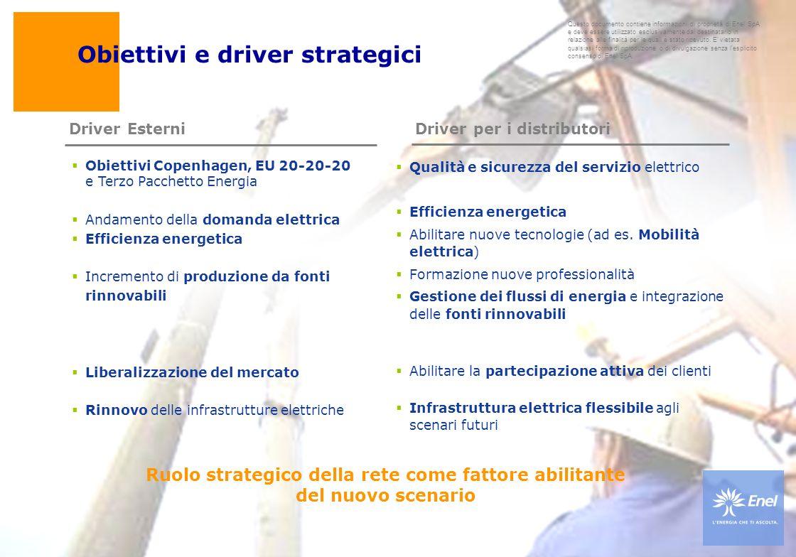 Ruolo strategico della rete come fattore abilitante del nuovo scenario