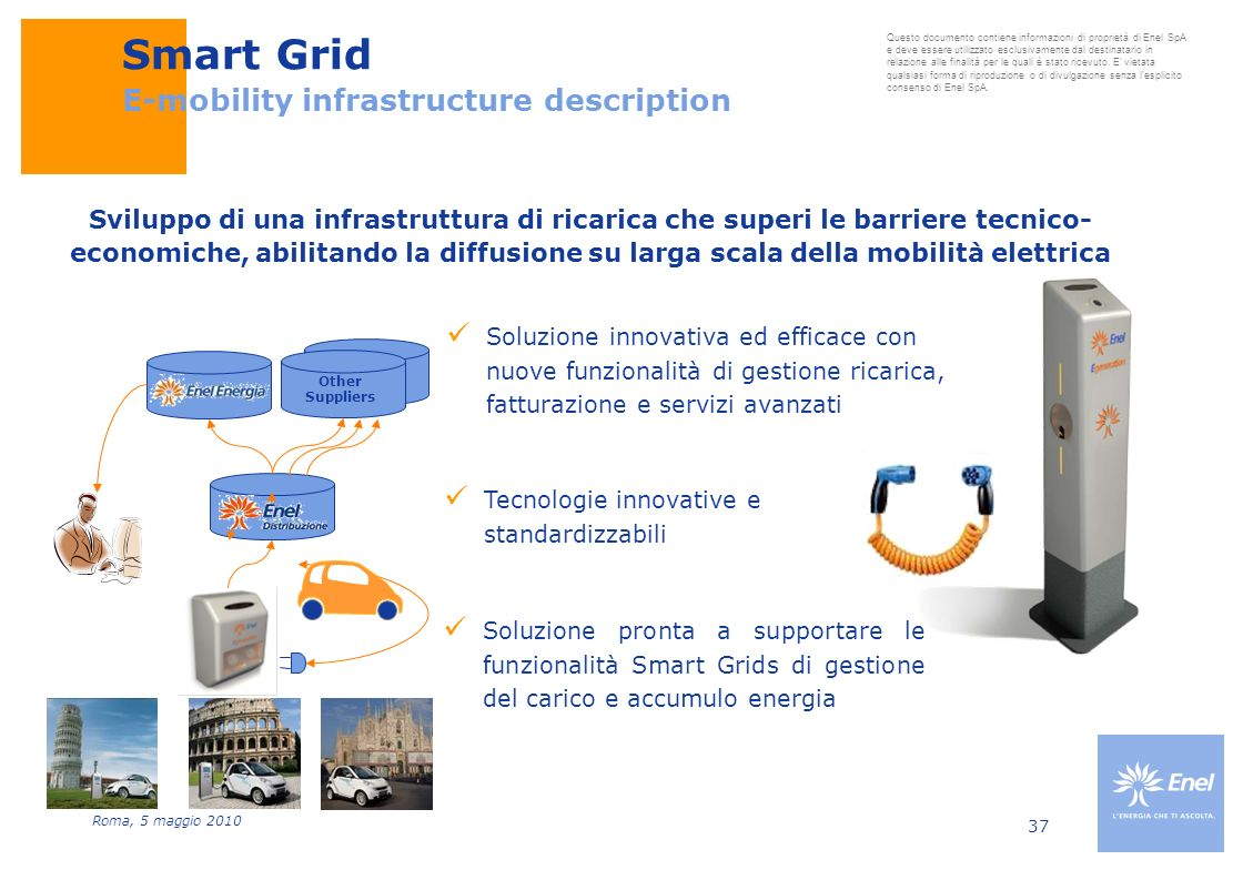 Smart Grid E-mobility infrastructure description