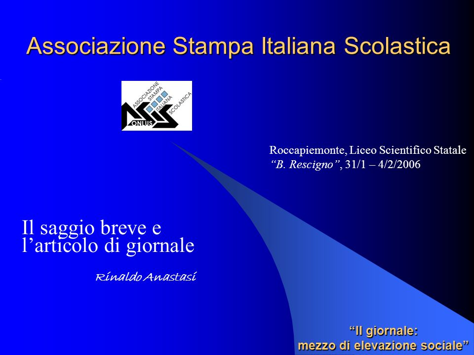 Associazione Stampa Italiana Scolastica