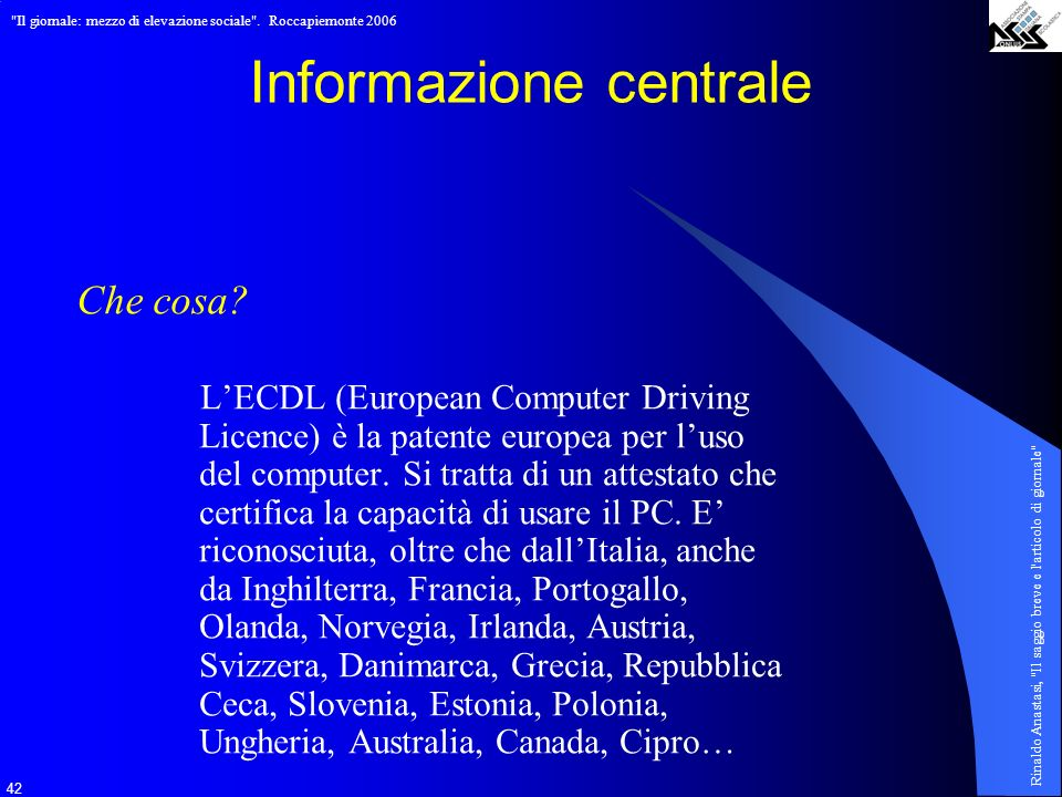 Informazione centrale