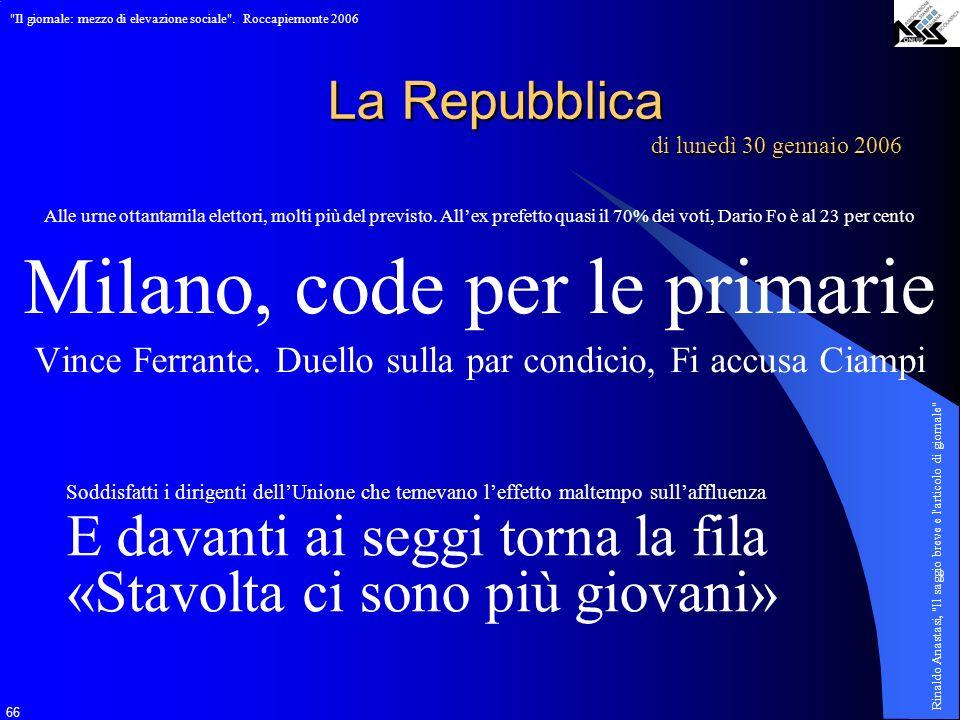 Milano, code per le primarie
