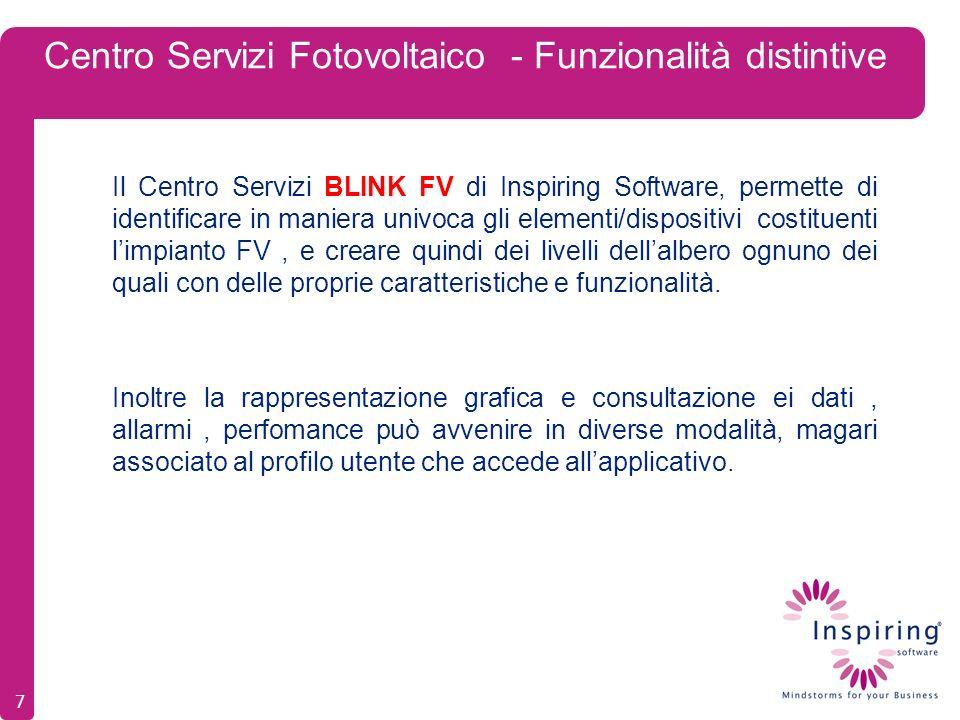 Centro Servizi Fotovoltaico - Funzionalità distintive