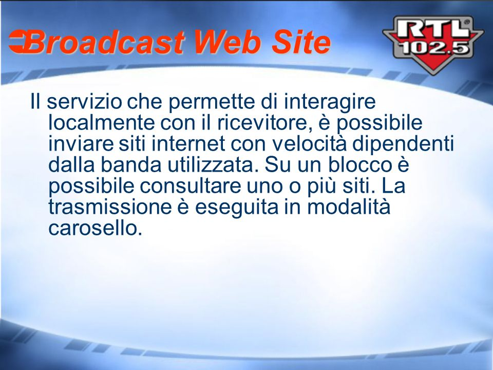 Broadcast Web Site