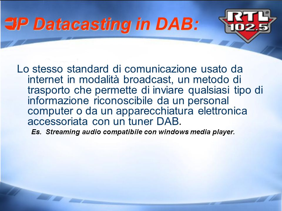 IP Datacasting in DAB: