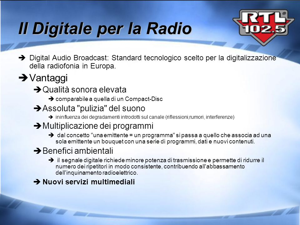 Il Digitale per la Radio