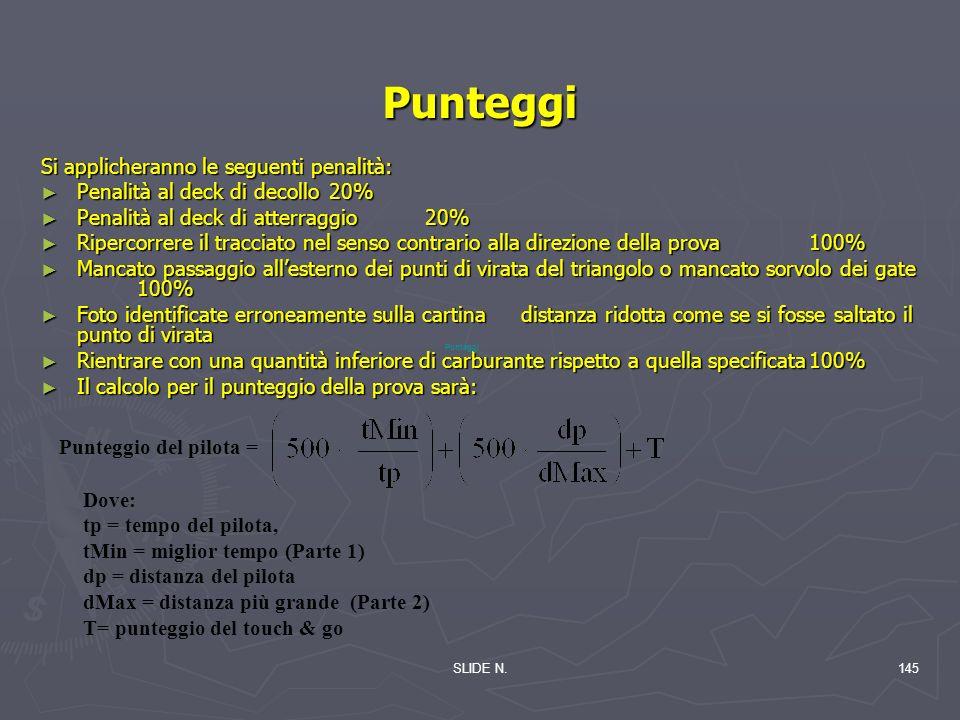 Punteggi Si applicheranno le seguenti penalità: