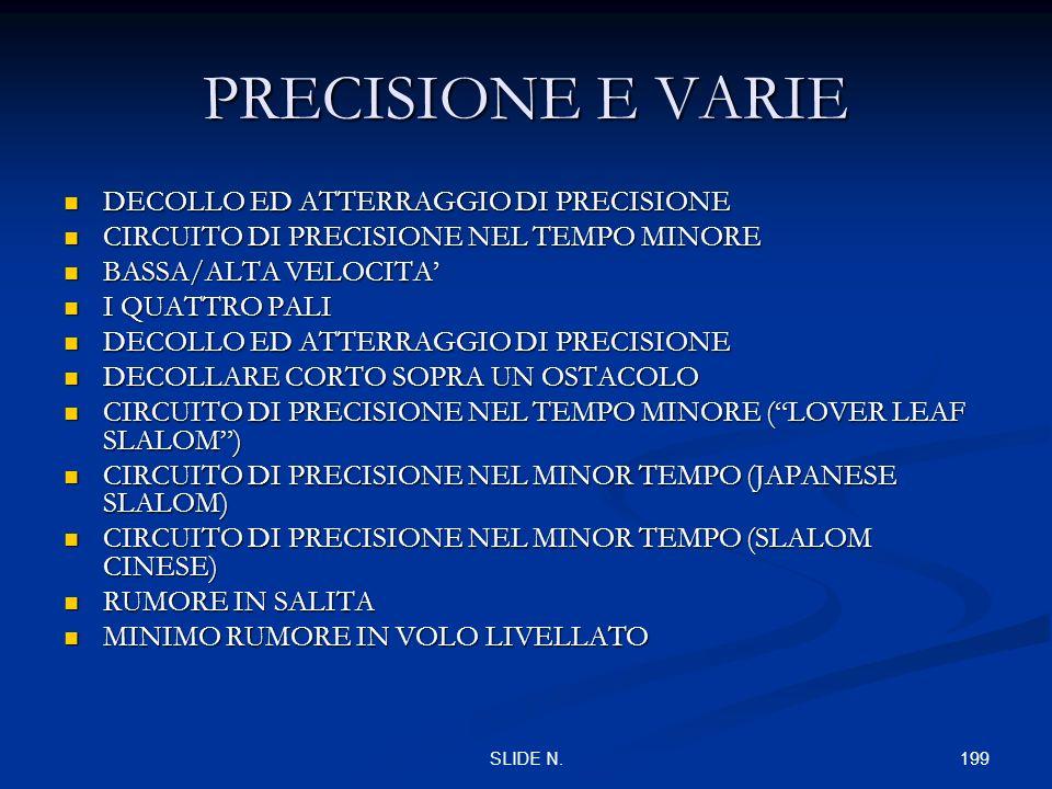 PRECISIONE E VARIE DECOLLO ED ATTERRAGGIO DI PRECISIONE