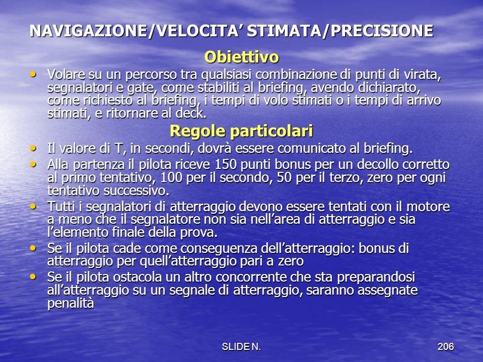 NAVIGAZIONE/VELOCITA' STIMATA/PRECISIONE
