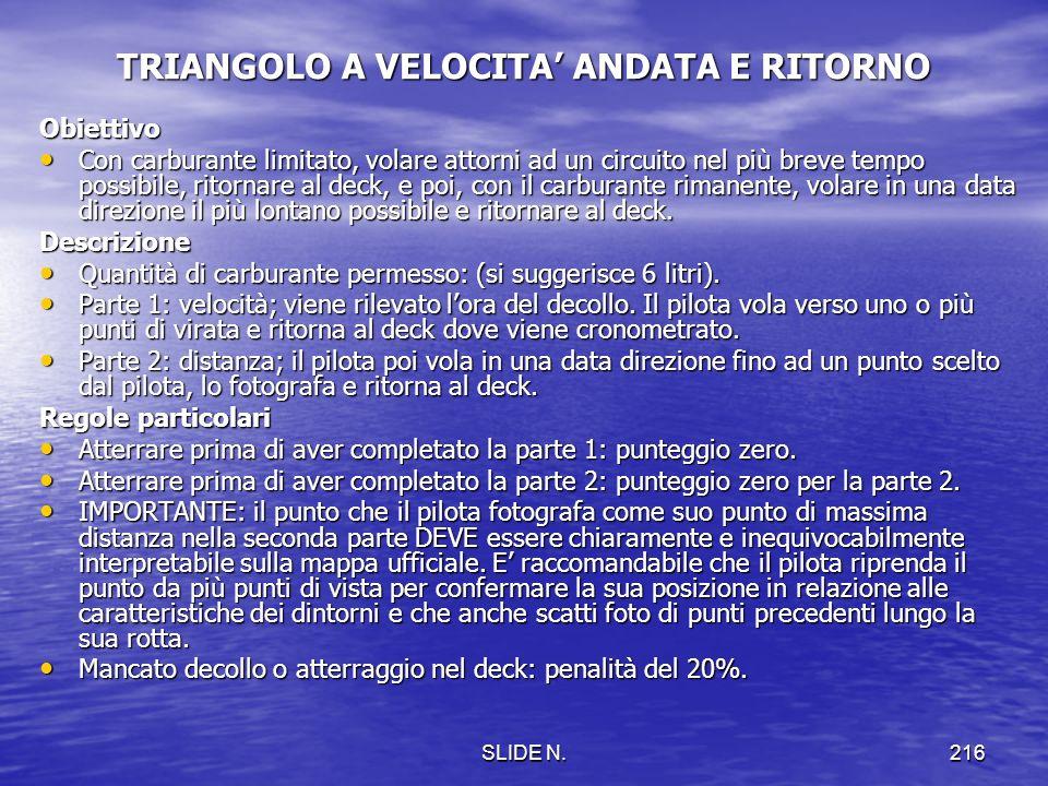 TRIANGOLO A VELOCITA' ANDATA E RITORNO