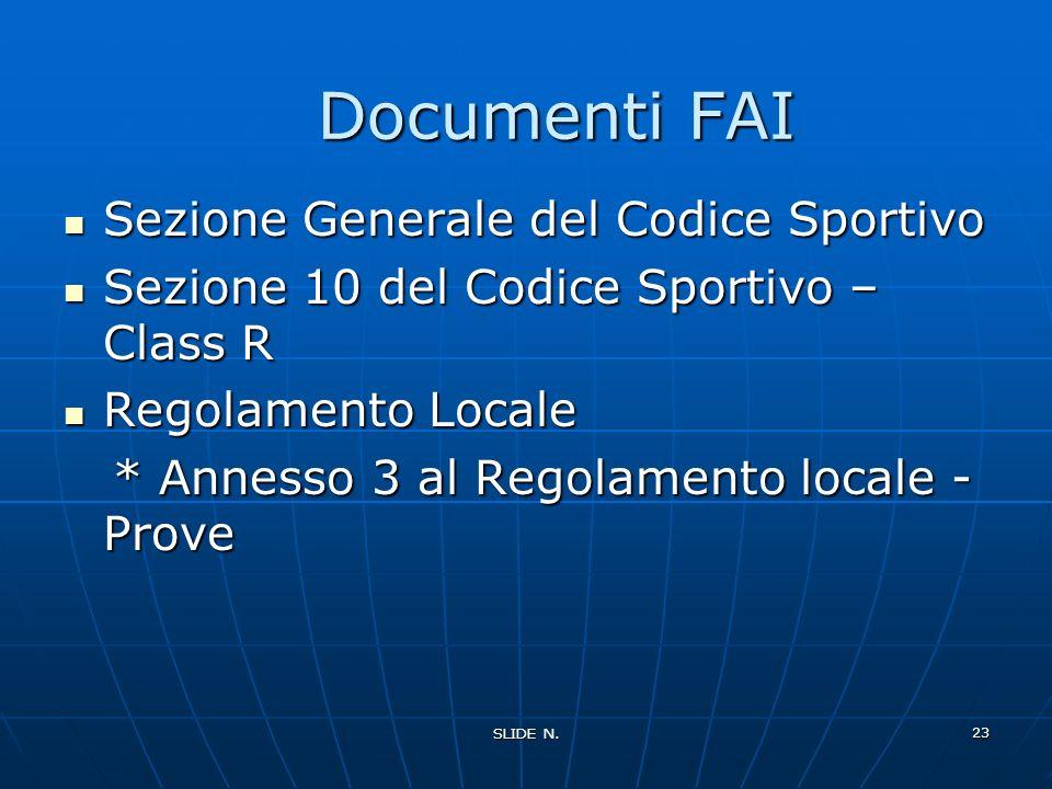Documenti FAI Sezione Generale del Codice Sportivo