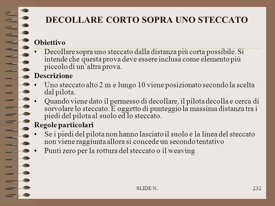 DECOLLARE CORTO SOPRA UNO STECCATO