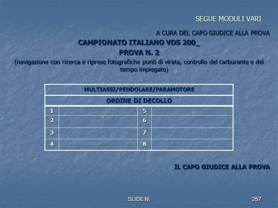CAMPIONATO ITALIANO VDS 200_ MULTIASSI/PENDOLARE/PARAMOTORE