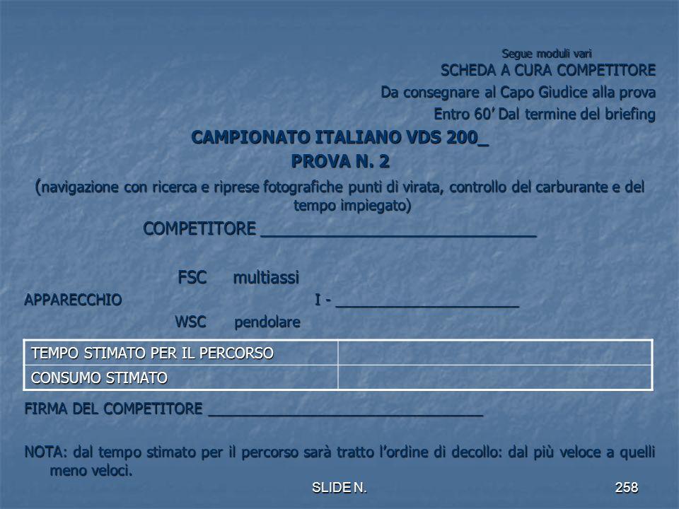 CAMPIONATO ITALIANO VDS 200_