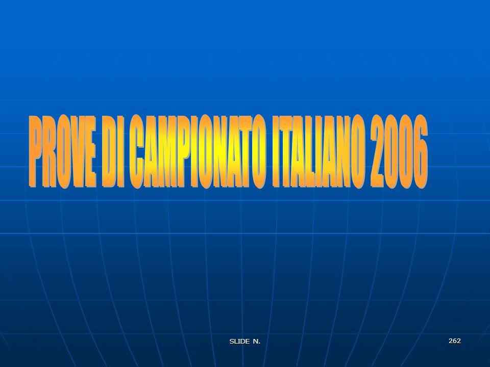 PROVE DI CAMPIONATO ITALIANO 2006