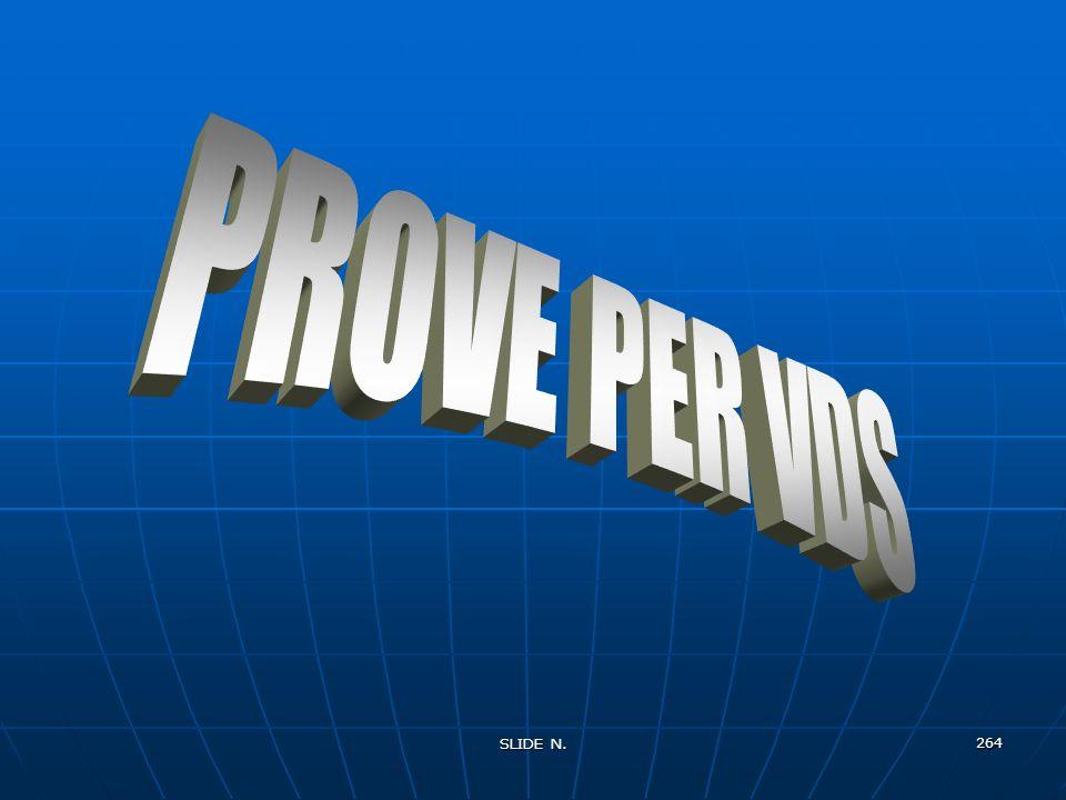 PROVE PER VDS SLIDE N.