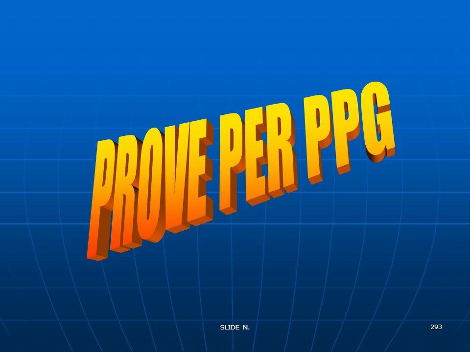 PROVE PER PPG SLIDE N.