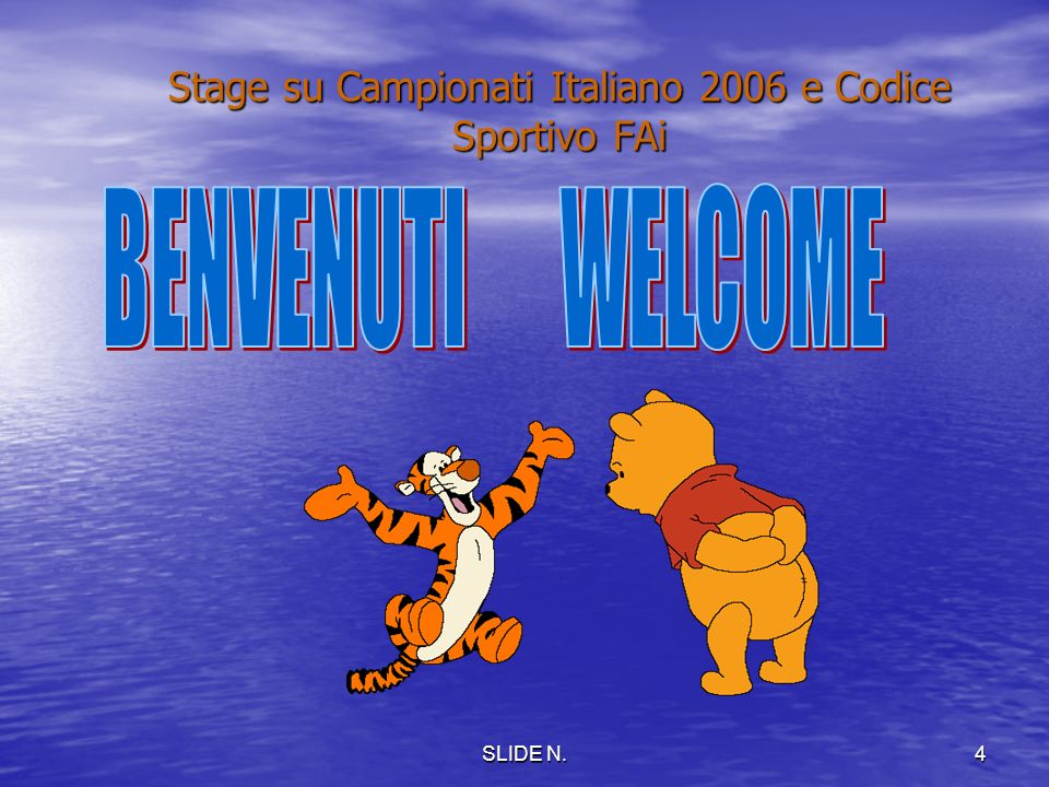 Stage su Campionati Italiano 2006 e Codice Sportivo FAi