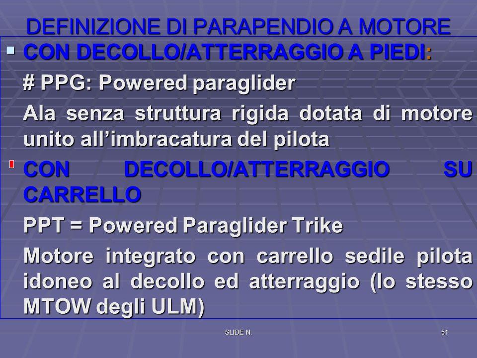 DEFINIZIONE DI PARAPENDIO A MOTORE