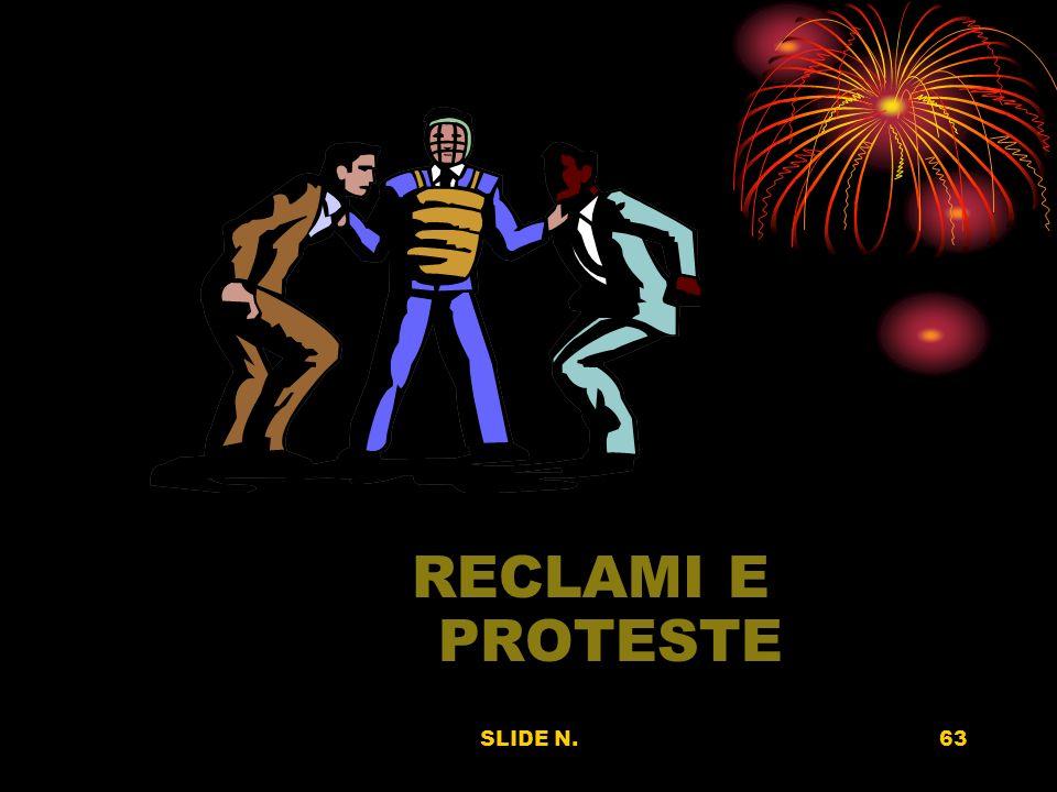 RECLAMI E PROTESTE SLIDE N.