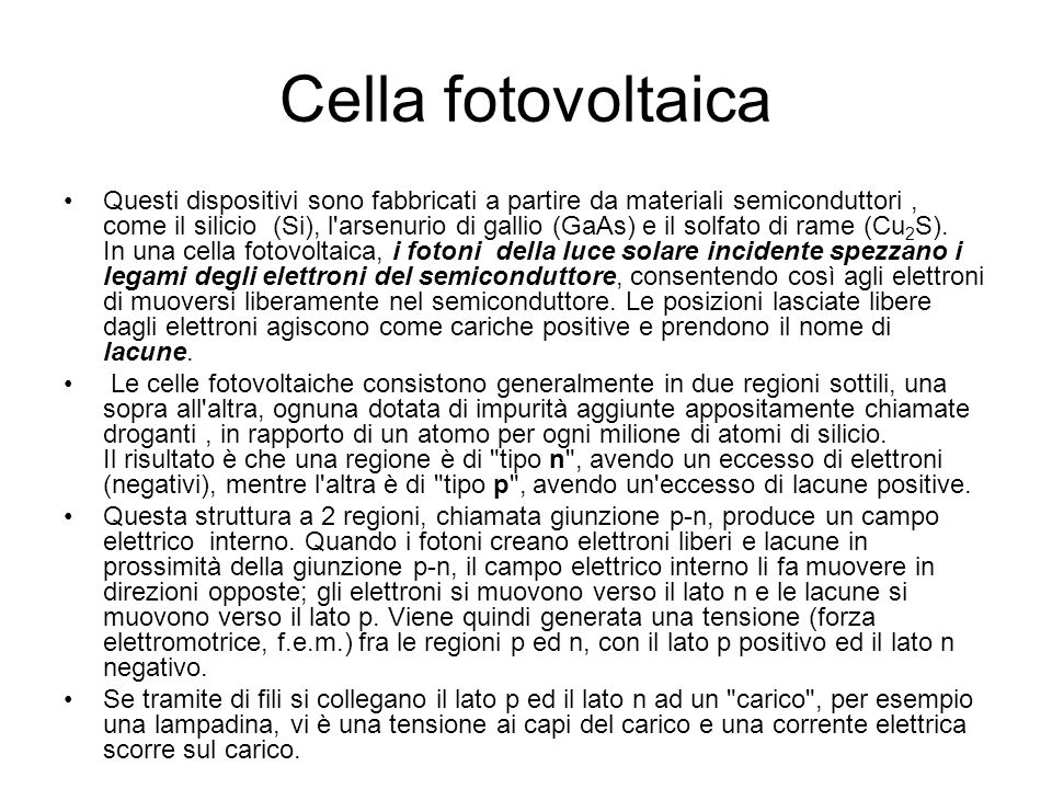 Cella fotovoltaica