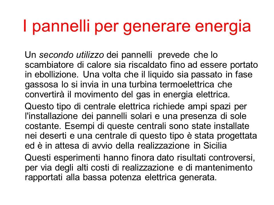 I pannelli per generare energia