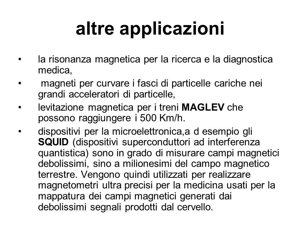 altre applicazioni la risonanza magnetica per la ricerca e la diagnostica medica,
