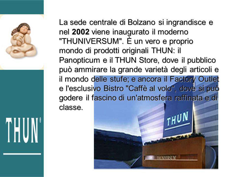 La sede centrale di Bolzano si ingrandisce e nel 2002 viene inaugurato il moderno THUNIVERSUM .