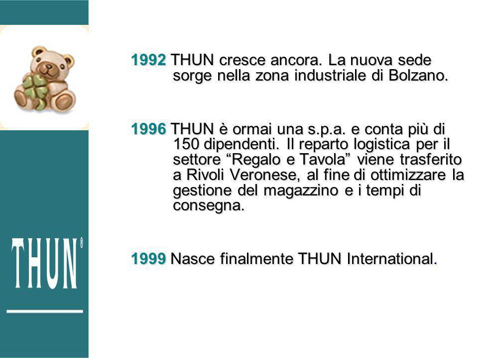 1992 THUN cresce ancora. La nuova sede sorge nella zona industriale di Bolzano.