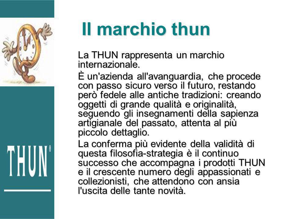 Il marchio thun La THUN rappresenta un marchio internazionale.