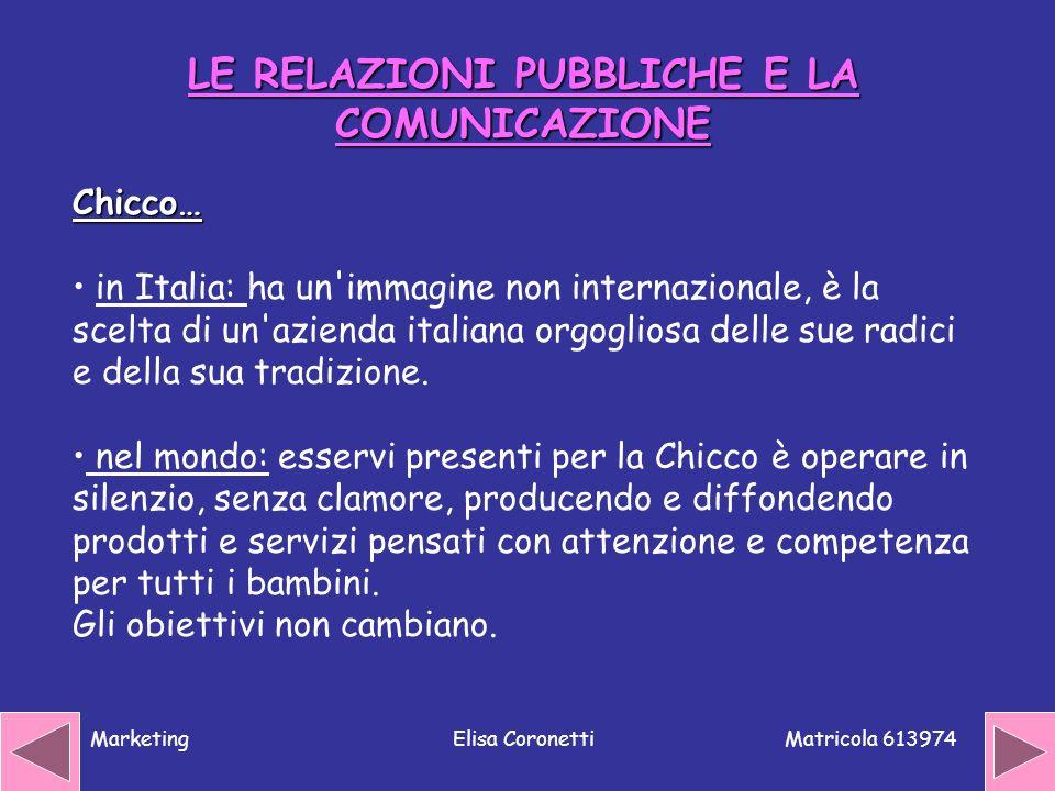 LE RELAZIONI PUBBLICHE E LA COMUNICAZIONE