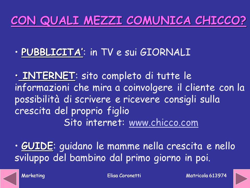 Sito internet: www.chicco.com