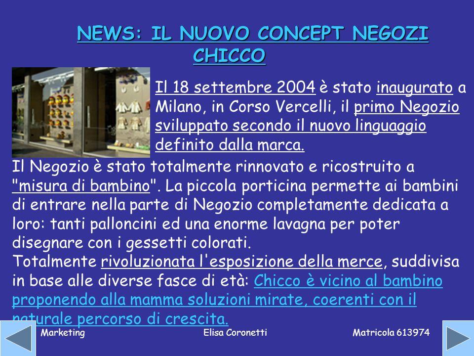 NEWS: IL NUOVO CONCEPT NEGOZI CHICCO