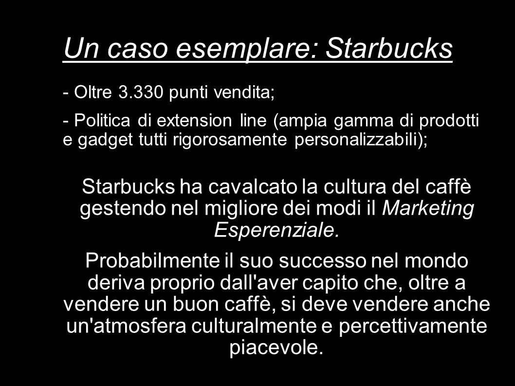 Un caso esemplare: Starbucks