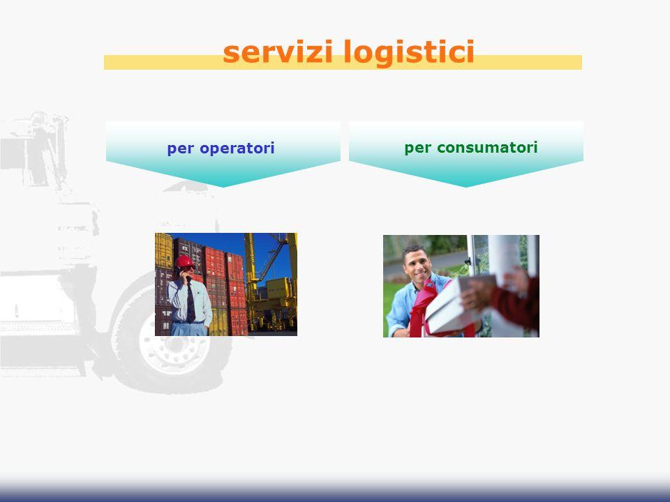 servizi logistici per operatori per consumatori