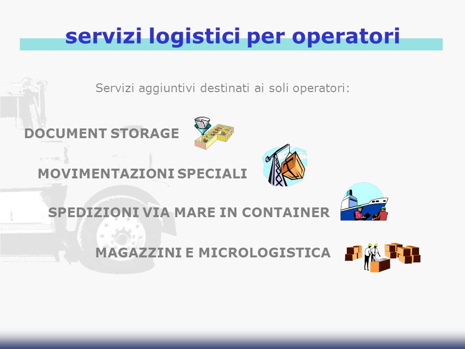 servizi logistici per operatori