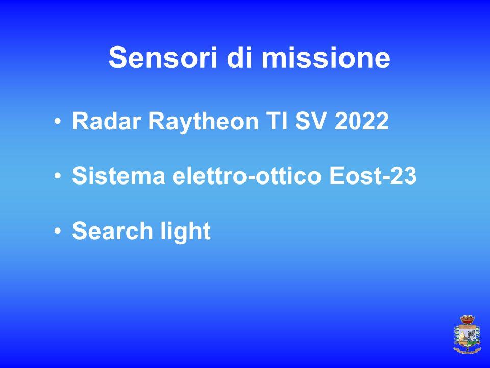 Sensori di missione Radar Raytheon TI SV 2022