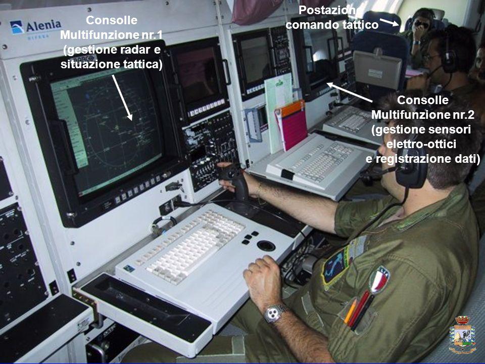 Postazione comando tattico. Consolle. Multifunzione nr.1. (gestione radar e. situazione tattica)